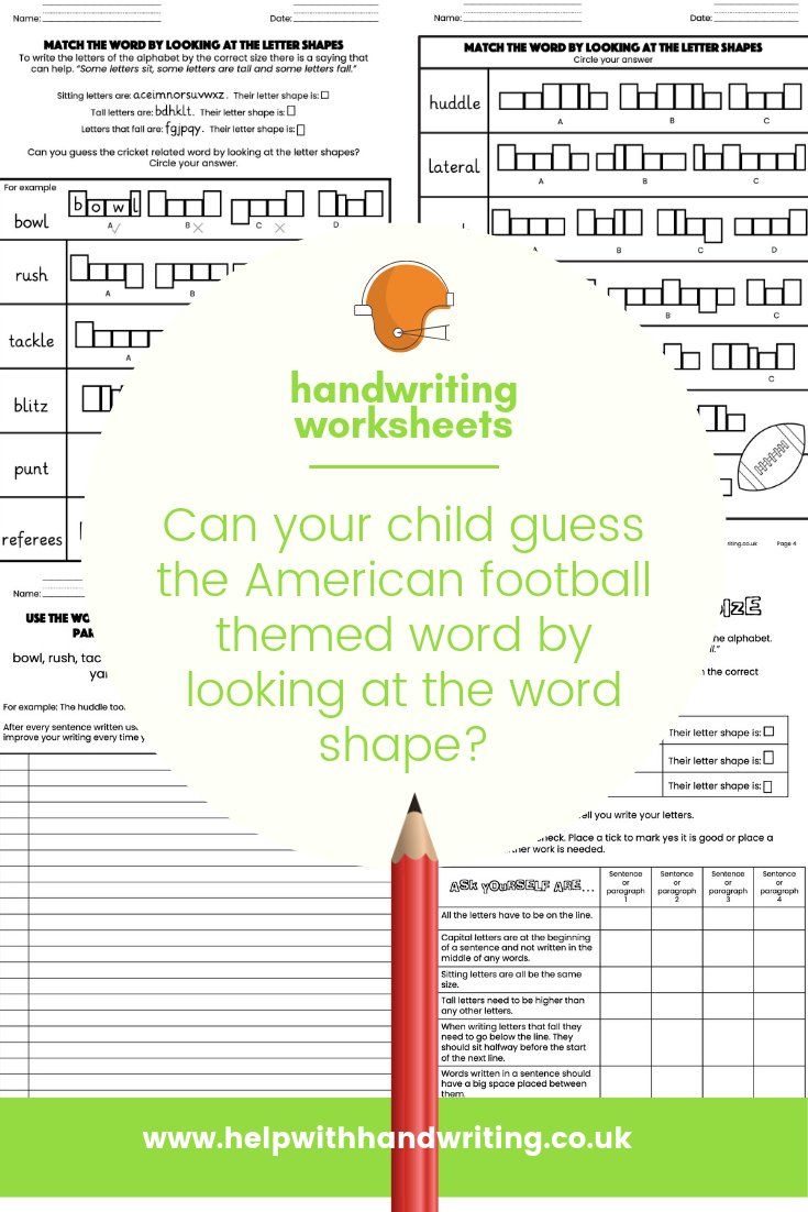 Does your child have large letter size? Help them learn
