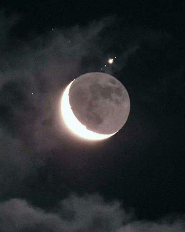 430+Our moon, with Jupiter and its moons.