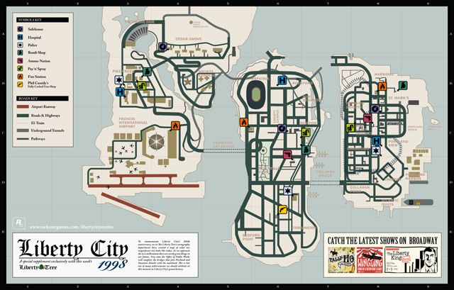 Download High Res Maps For Liberty City Stories And Vice City Stories Gta Grand Theft Auto City