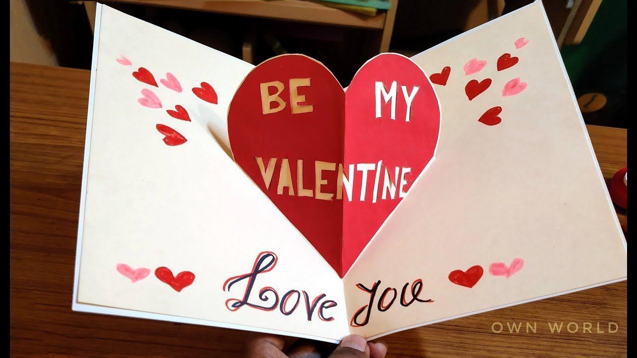 very easy  beautiful handmade valentine's day card idea
