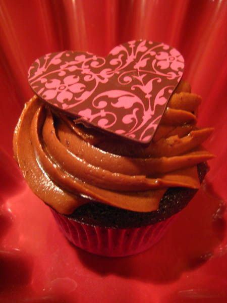 Embossed Heart Food Cupcakes Pinterest Chocolate Cupcakes