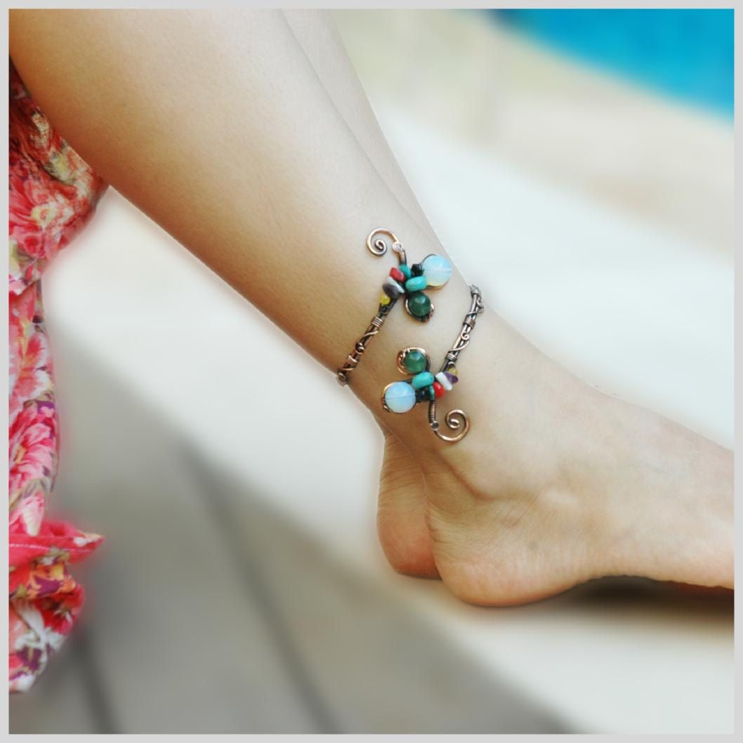 glod anklet beach ankle women jewelry chain bracelet silver sanklets pin adjustable foot bracelets