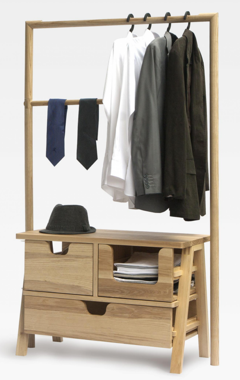 What Wooden Clothes Rack With Shelves Is Suitable To You Darbylanefurniture Com In 2020 Wooden Clothes Rack Wooden Closet Clothing Rack