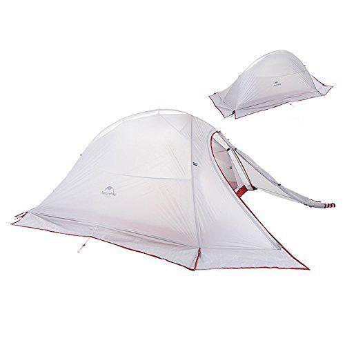 Naturehike 2 Person Outdoor Tent Doublelayer Tent Waterproof Camping Tent Lightweight Tent Gray 20d Silicon Fabric Ultralight Tent Waterproof Tent Outdoor Tent
