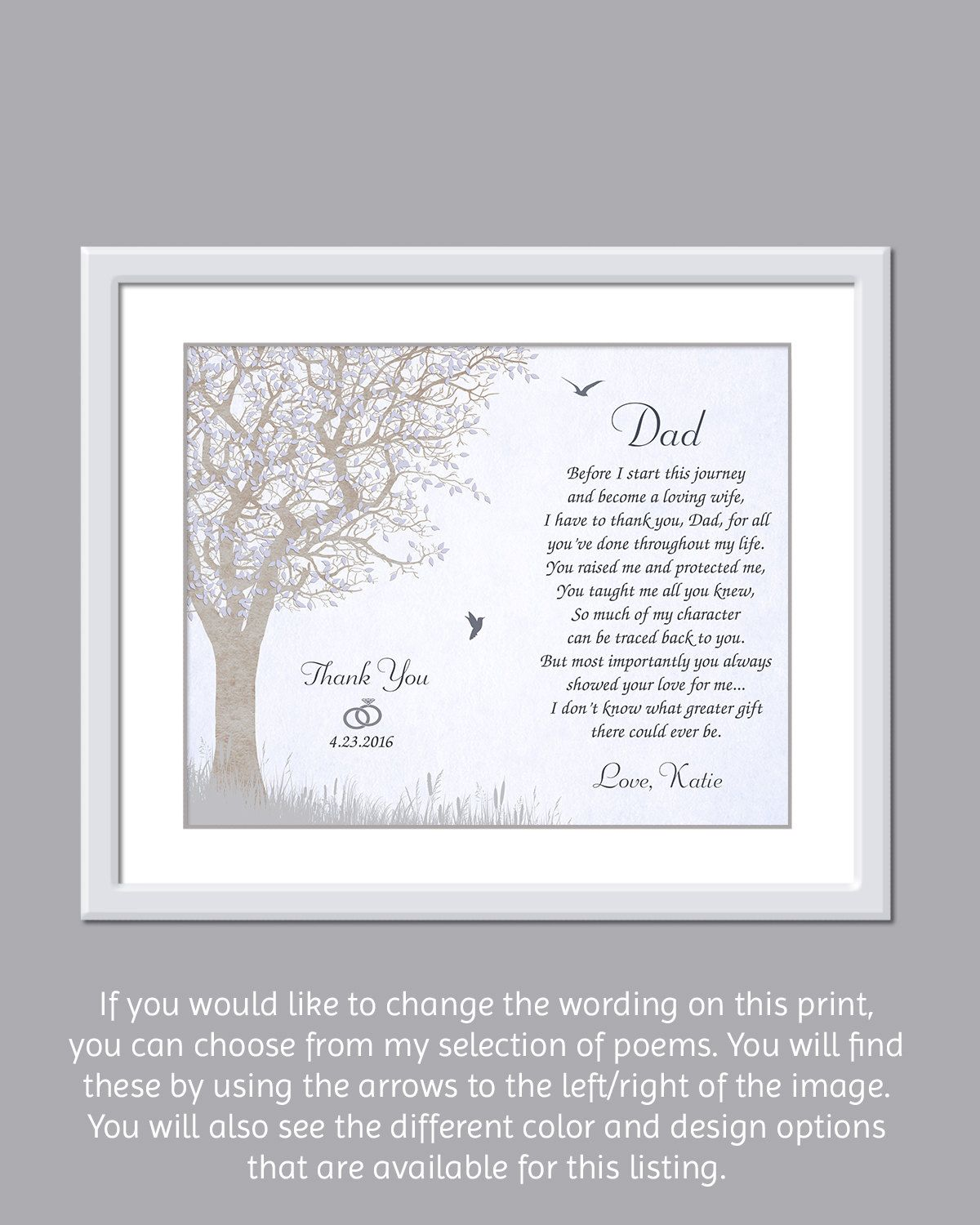 Father Wedding Gift - Father Of The Bride Gift - Dad Wedding Gift ...