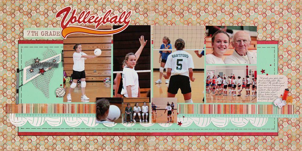 7th Grade Volleyball Scrapbook Club School Scrapbook Scrapbooking Layouts