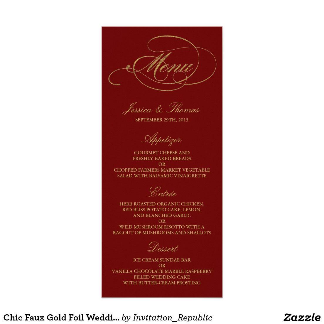 Rack Card | Wedding Menu Cards | Pinterest | Wedding menu, Wedding ...