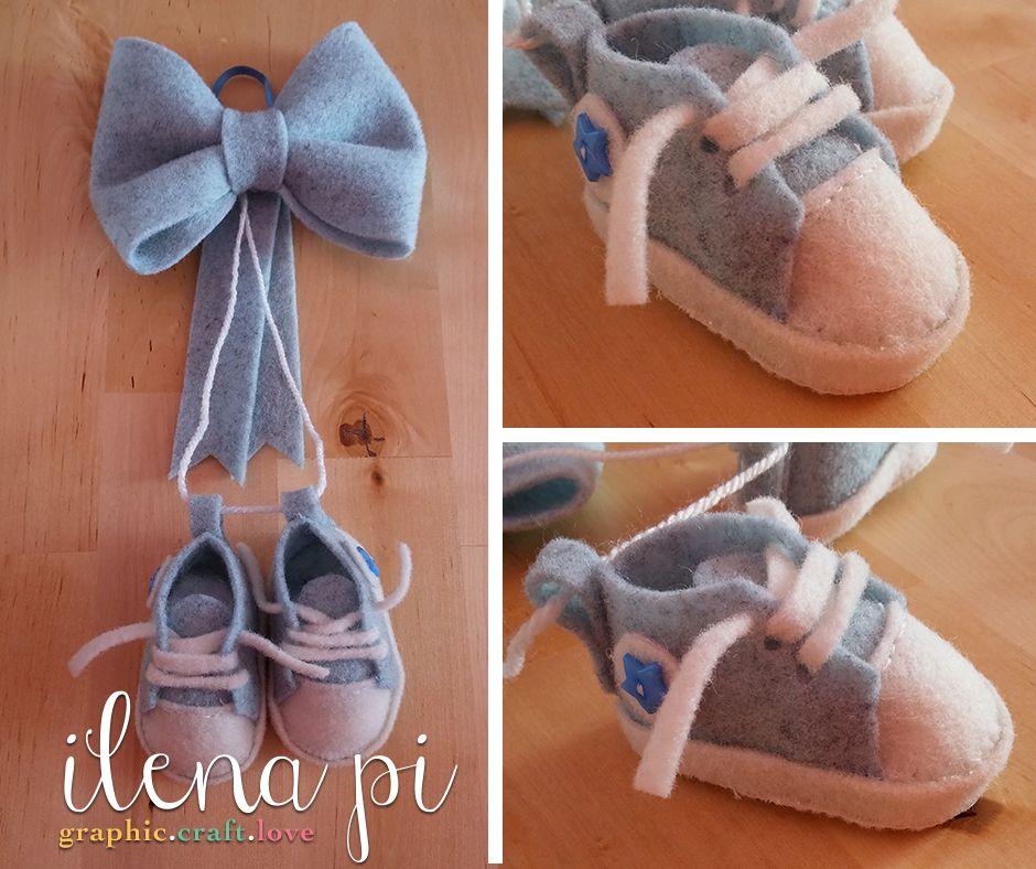 5d5a9a959ae185 Fiocco nascita in feltro - scarpette Scarpe Per Bambino, Ghirlande, Bambini,  Abbigliamento,