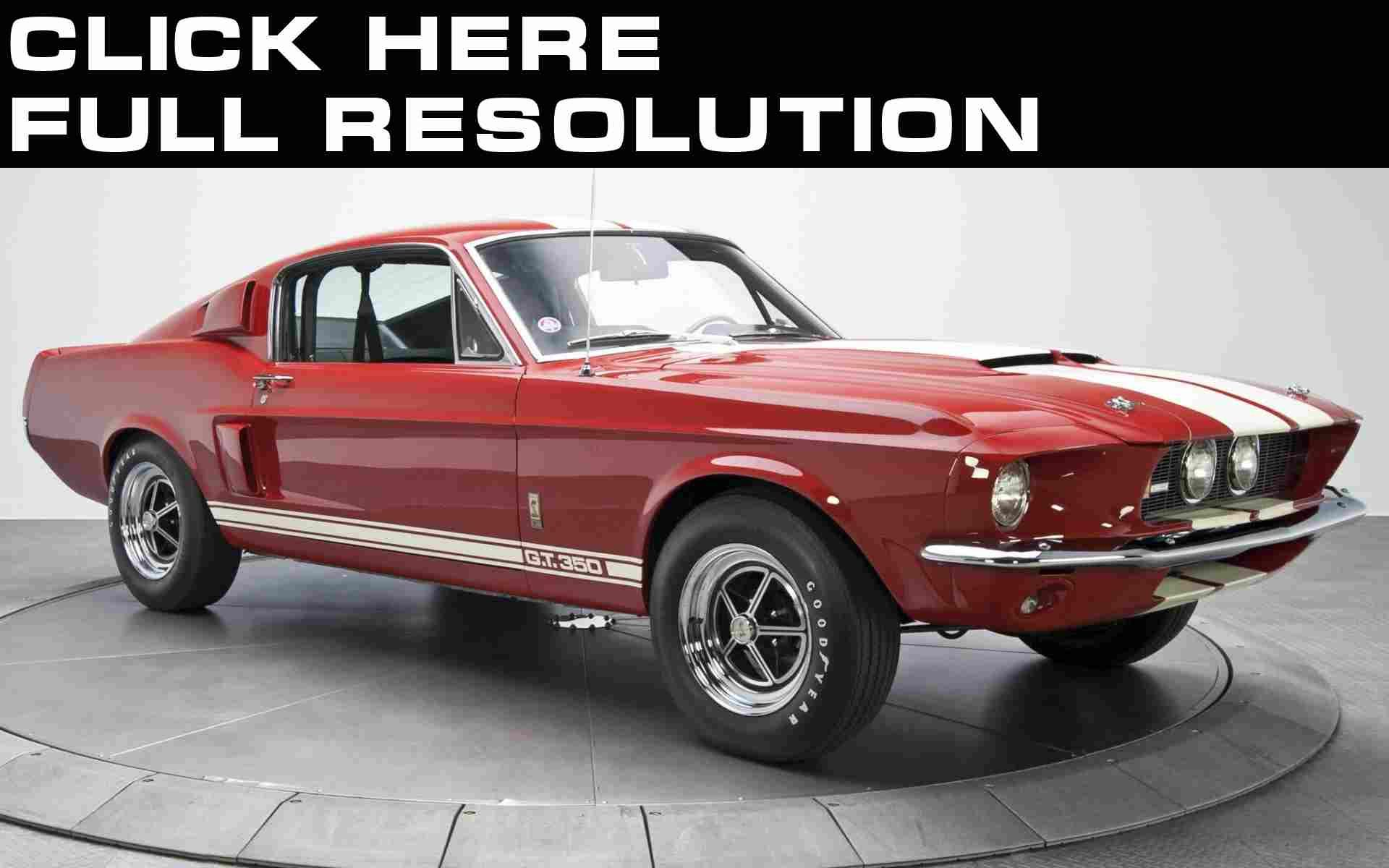 Ford Retro Mustang Shelby Gt350 1967 Red Metallic Ca Mustang