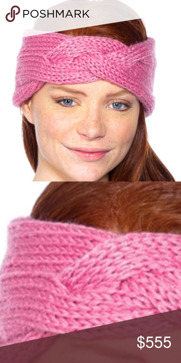 Warm Knitted headband (Pink)
