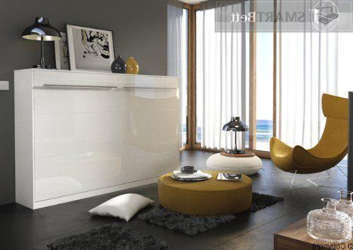 schrankbett smartbett 140 horizontale version inkl lattenrost mit liegefl che 140 x 200cm. Black Bedroom Furniture Sets. Home Design Ideas