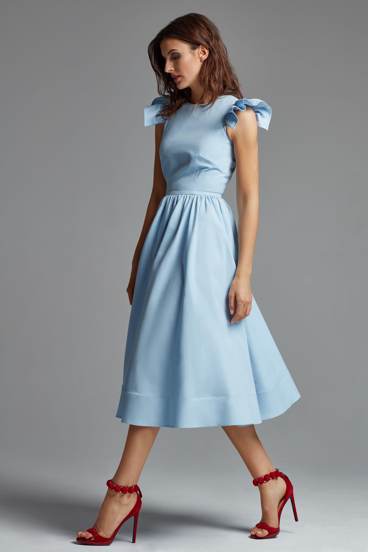 Sukienka Brigitte Blekitna Leimann Sklep Internetowy Fashion Style Inspiration