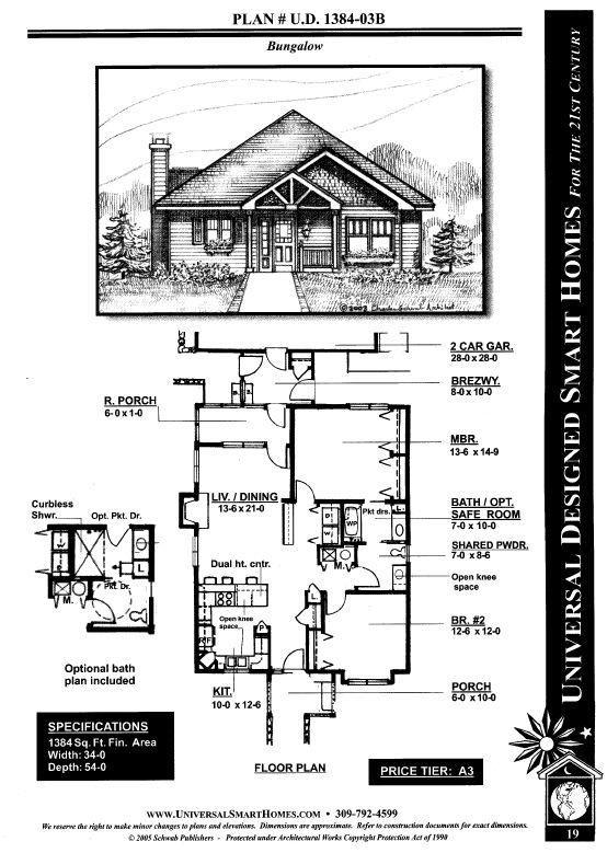 Universal Designed Home Plans House Plans Universal Design Safe Room