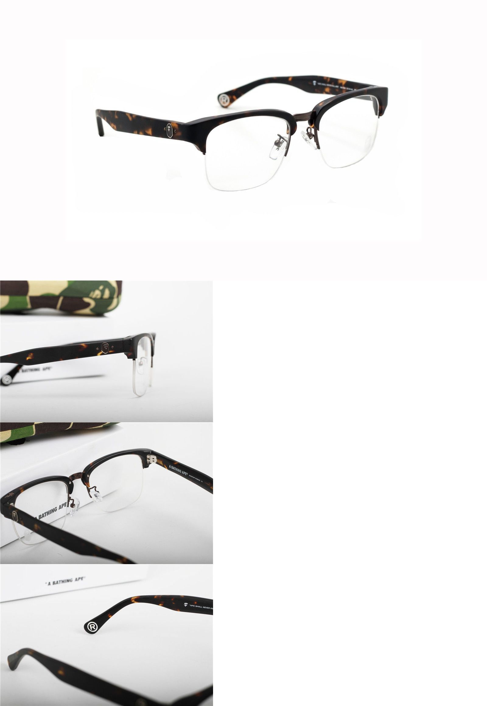 256e259740 Fashion Eyewear Clear Glasses 179240  A Bathing Ape Bape Leopard Club  Master Clear Glasses New With Packing -  BUY IT NOW ONLY   125.85 on eBay!