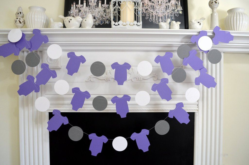 Baby Shower Garland Baby Wishes Note Garland It S A Girl Shower