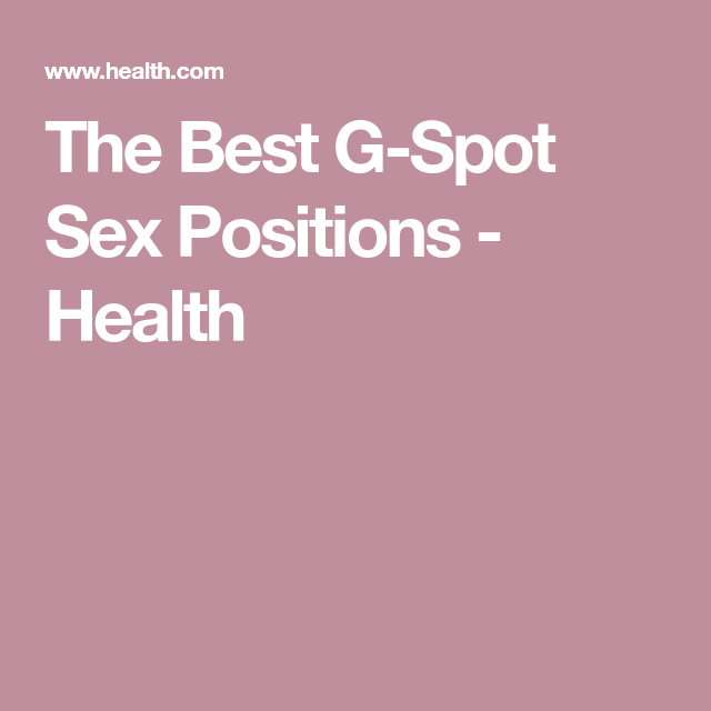 Best positions for g spot stimulation