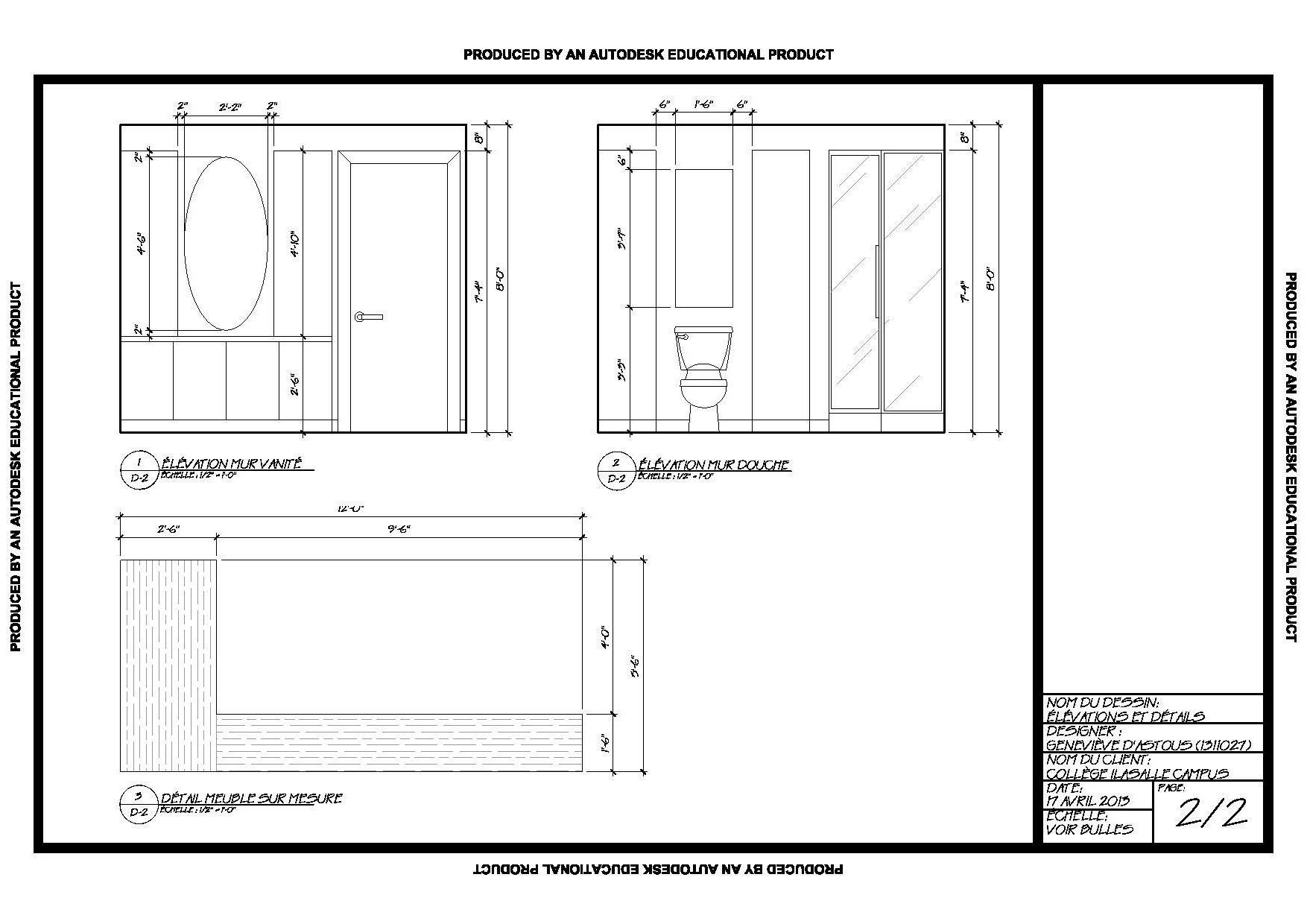 Meuble Salle De Bain Dwg ~ autocad blocks salle de bains toilette bain bureau canap