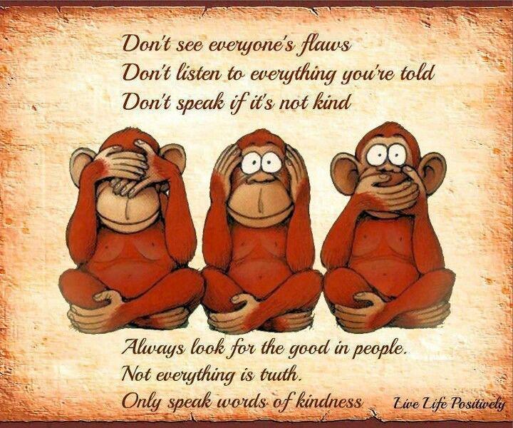 The three gossip monkeys