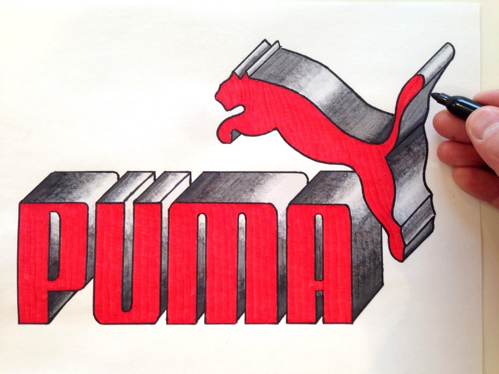 How to Draw the PUMA Logo in 3D Best on Youtube
