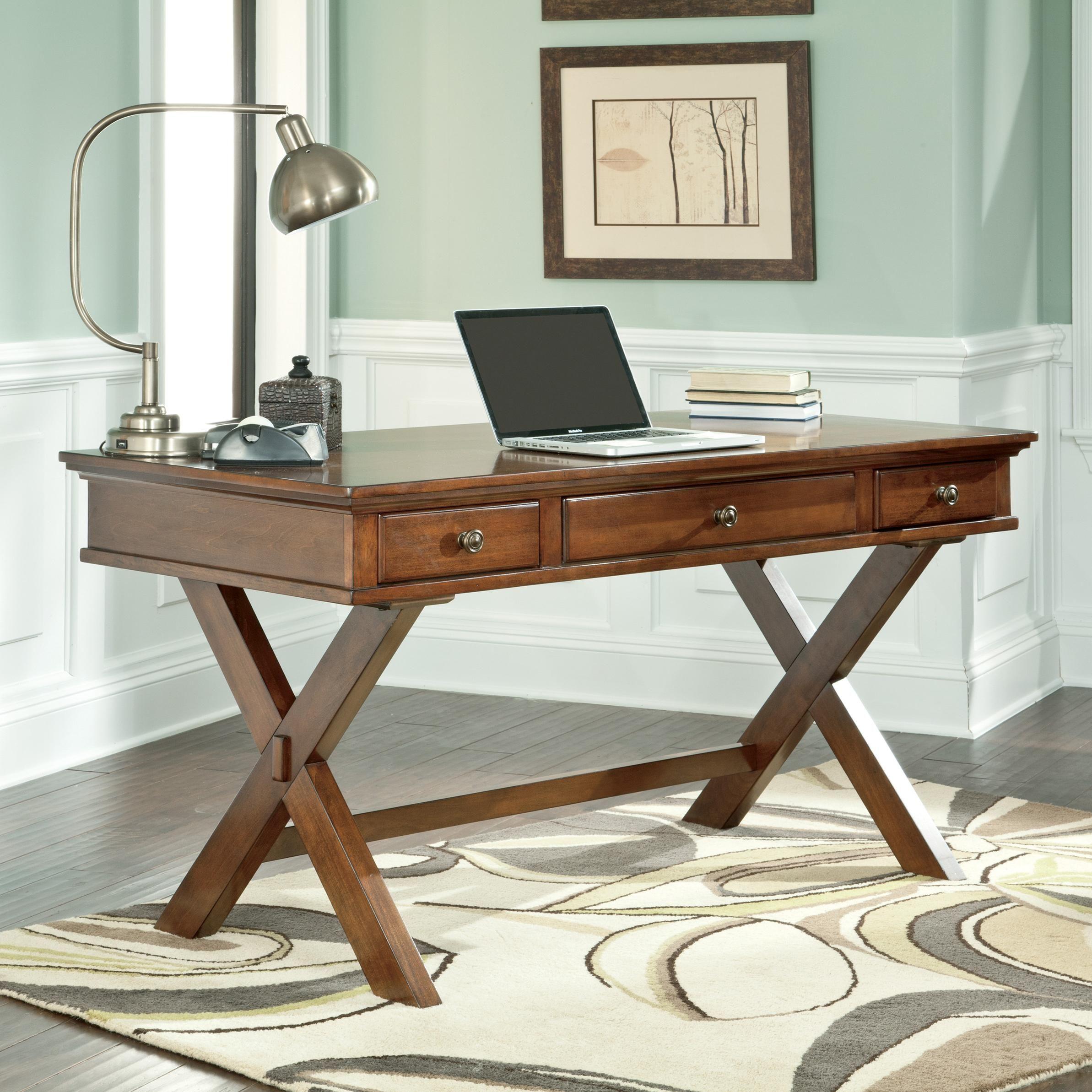 burkesville home office desk by signature design by ashley office rh pinterest com Signature Wooden Furniture signature design office furniture