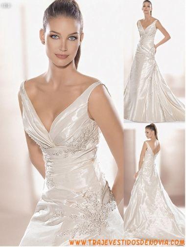 7facbb14c4 Col. Romnticos Mod. 1810 Vestido de Novia Atelier Diagonal ...