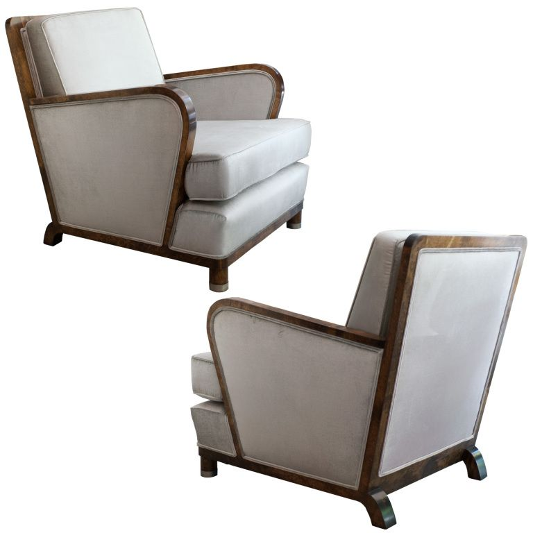 Great pair of swedish art deco lounge chairs by alvar andersson art deco modern lounge and - Deco lounge eetkamer modern ...
