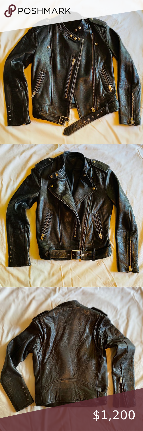 Iro Zaki Black Leather Biker Jacket Size 2 Black Leather Biker Jacket Leather Biker Jacket Biker Jacket [ 1740 x 580 Pixel ]