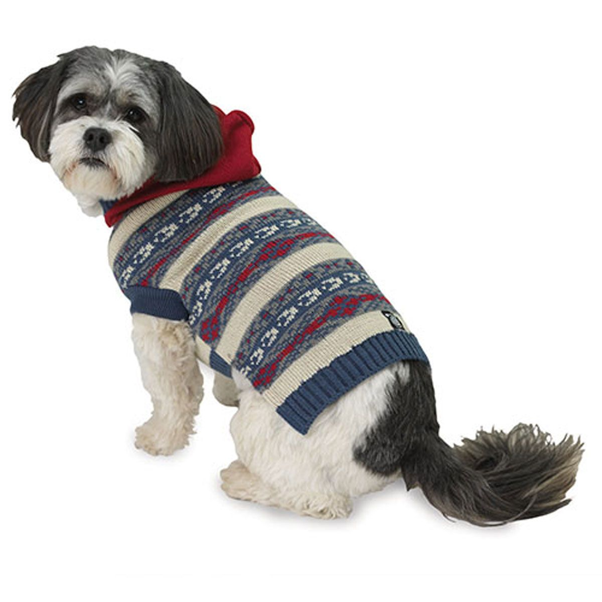 Phoebe's Hooded Fair Isle Dog Sweater - Cranberry - https ...