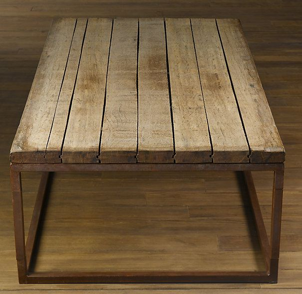 restoration hardware's brickmaker's table. made from 100+ yr. old