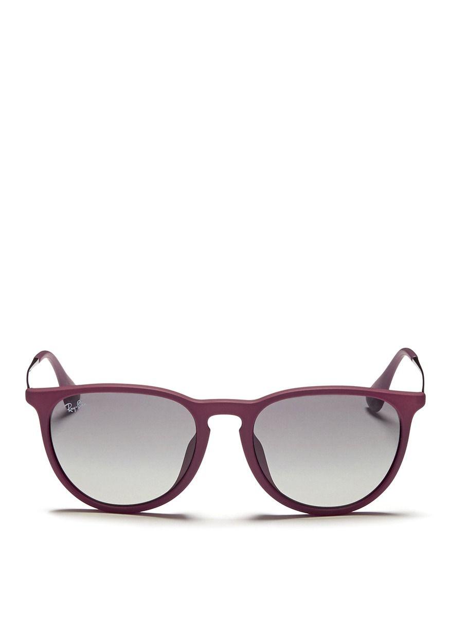 753e2c495e RAY-BAN -  Erika  matte acetate frame wire temple sunglasses