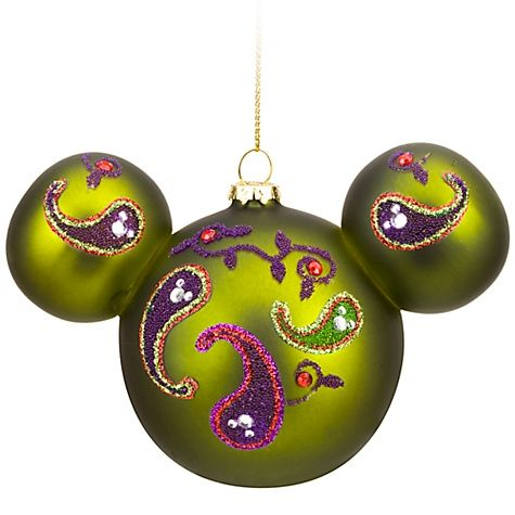 bohemian beaded glass mickey mouse ornament christmas disney decor - Mickey Mouse Ornaments Christmas