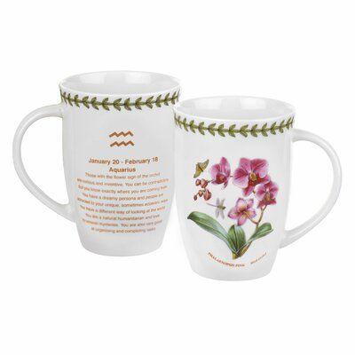 Aquarius Zodiac Sign Astrological Ceramic Tea Coffee Mug Coaster Gift Set Mugs Kitchenalia