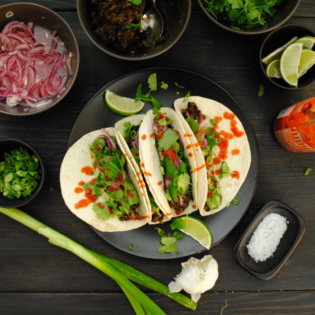 vegetarisk tacos bönor