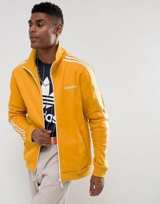 Adidas Originals Beckenbauer Track Jacket In Yellow Br4326 Adidas Jacket Mens Mens Jackets Yellow Adidas