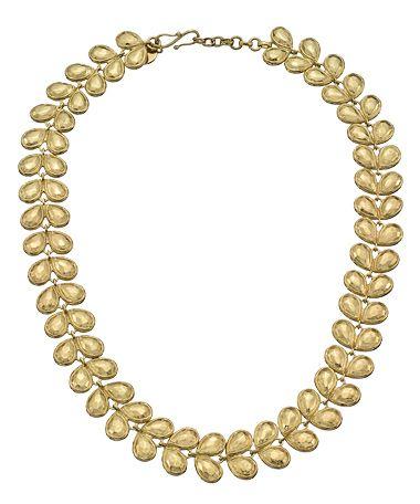 Melinda Maria Faceted Leaf Necklace #maxandchloe