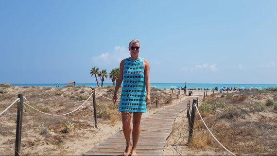 Crochet Pattern - Sunny Days Beach Dress #crochetbeachdress