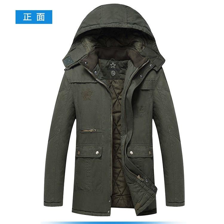 49e664bcd Winter Fashion Mens Warm Hooded Long Jacket Military Parka Fur Lined ...