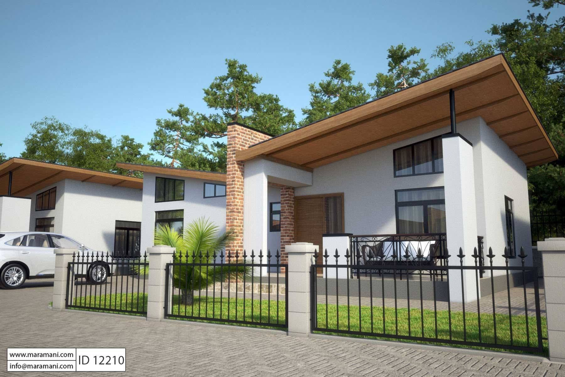 Two Bedroom House Design Pictures Pleasing 2 Bedroom House Plan  Id 12210  House Designsmaramani Design Inspiration