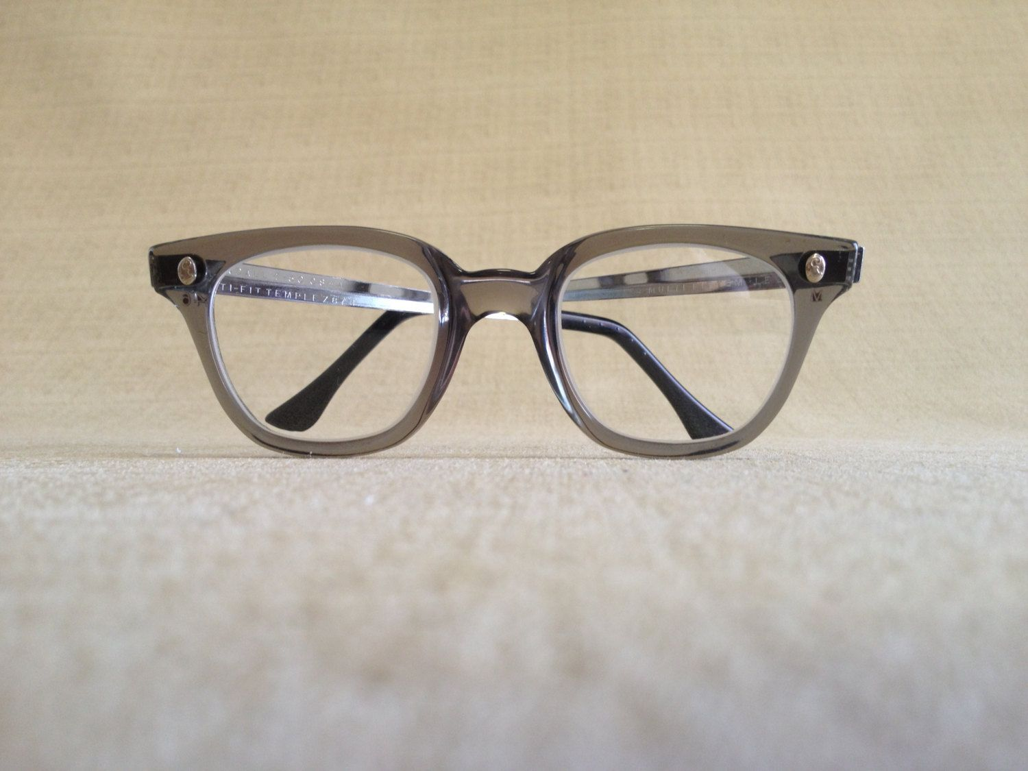 1950s60s Gray FendAll Safety Glasses, Metal Adjustable