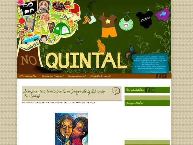 Layout para blog pessoal - No Quintal || http://minhacasatemquintal.blogspot.com/