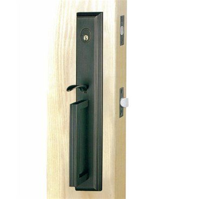 Double hill e12 brass collection majestic tubular front - Home hardware exterior door handles ...