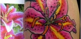 Tattoos are becoming popular day by day & some tattoo lovers prefer to have a unique colour tattoo. Here is a list of pink tattoo designs for all the pinkie-colour lovers, especially girls out there