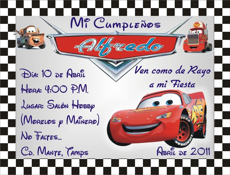 Invitaciones De Cumpleaños De Cars Para Descargar Al Celular