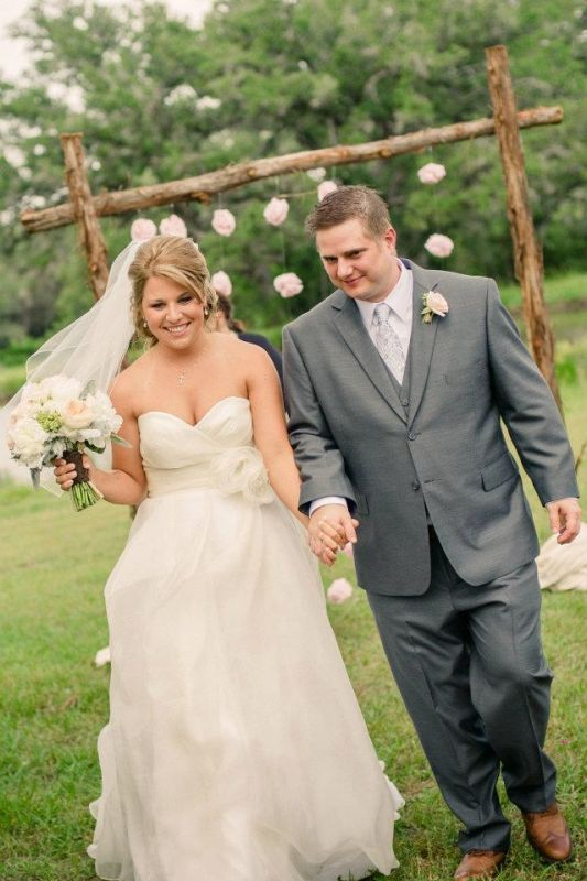 Example Of Ivory Dress Gray Suit White Shirt Rachel S Wedding