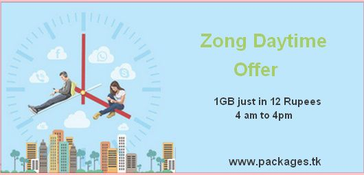 Zong Daytime Internet Offer Zong Introduce Zong Day Time Offer Which Is Most Affordable Internet Package Affordable Internet Internet Packages Day And Time