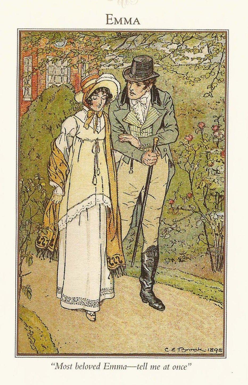 brock illustrations of jane austen books アンティークドレス