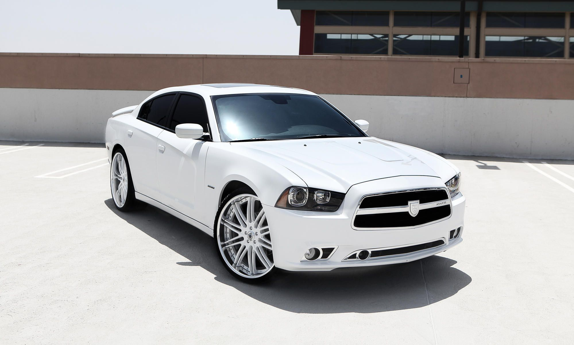 Asanti Wheels  The Leader In Custom Luxury Wheels  White 2012 Dodge Charger R  T