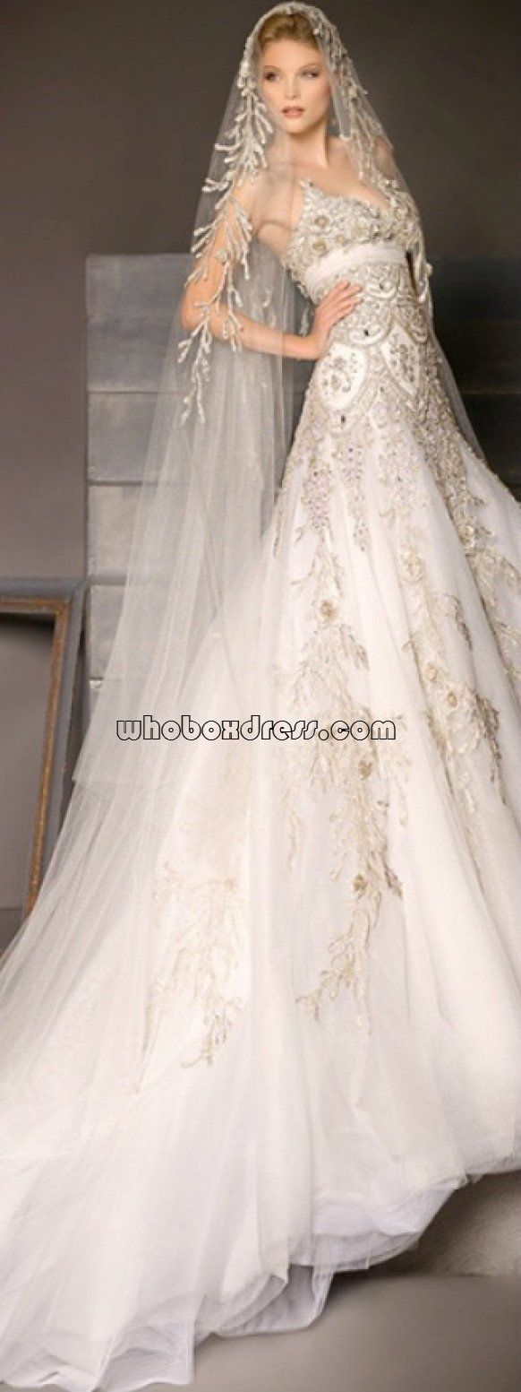 Long veil wedding dresses  wedding dresses  Wedding Dresses  Pinterest  Wedding dress