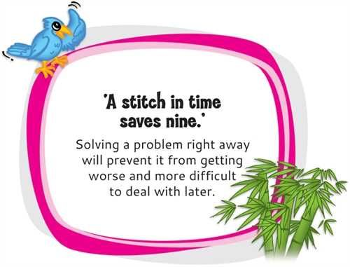 the meaning of a stitch in time saves nine