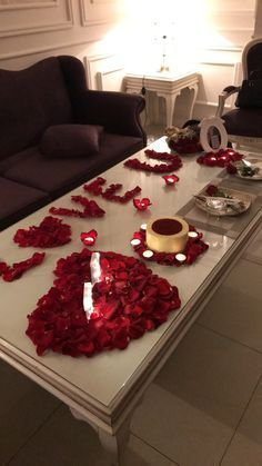 Romantic Surprise For Her Aninspiring Love True Love Tell Me Im Beautiful Just Thoughts Romantic Dinner Decoration Romantic Surprise Romantic Dinner Setting